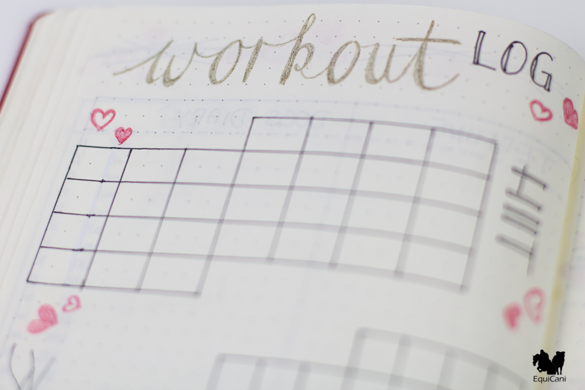 Plan with me: February Bullet Journal Workout Log