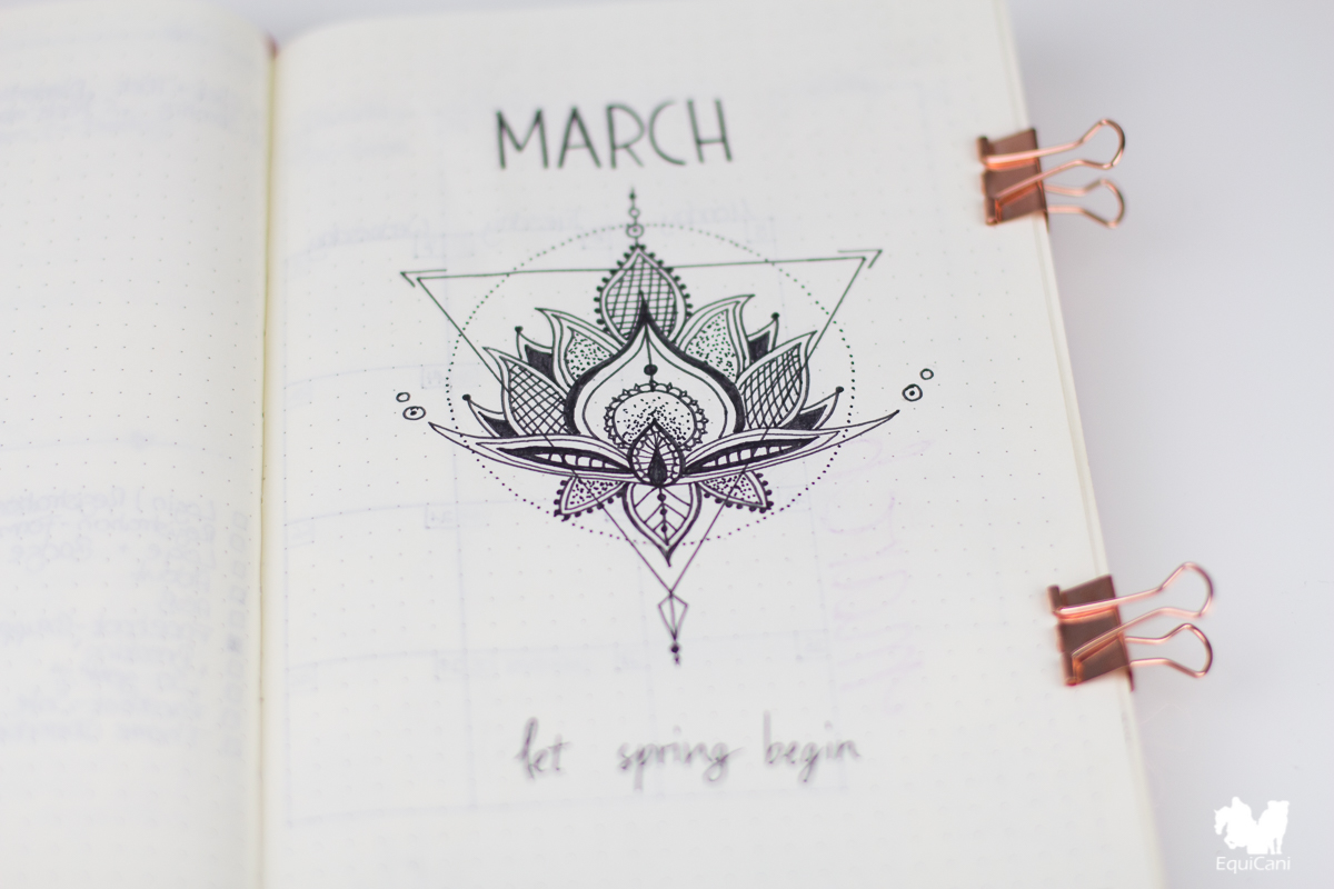 Bullet Journal Plan with me March let spring begin Cover