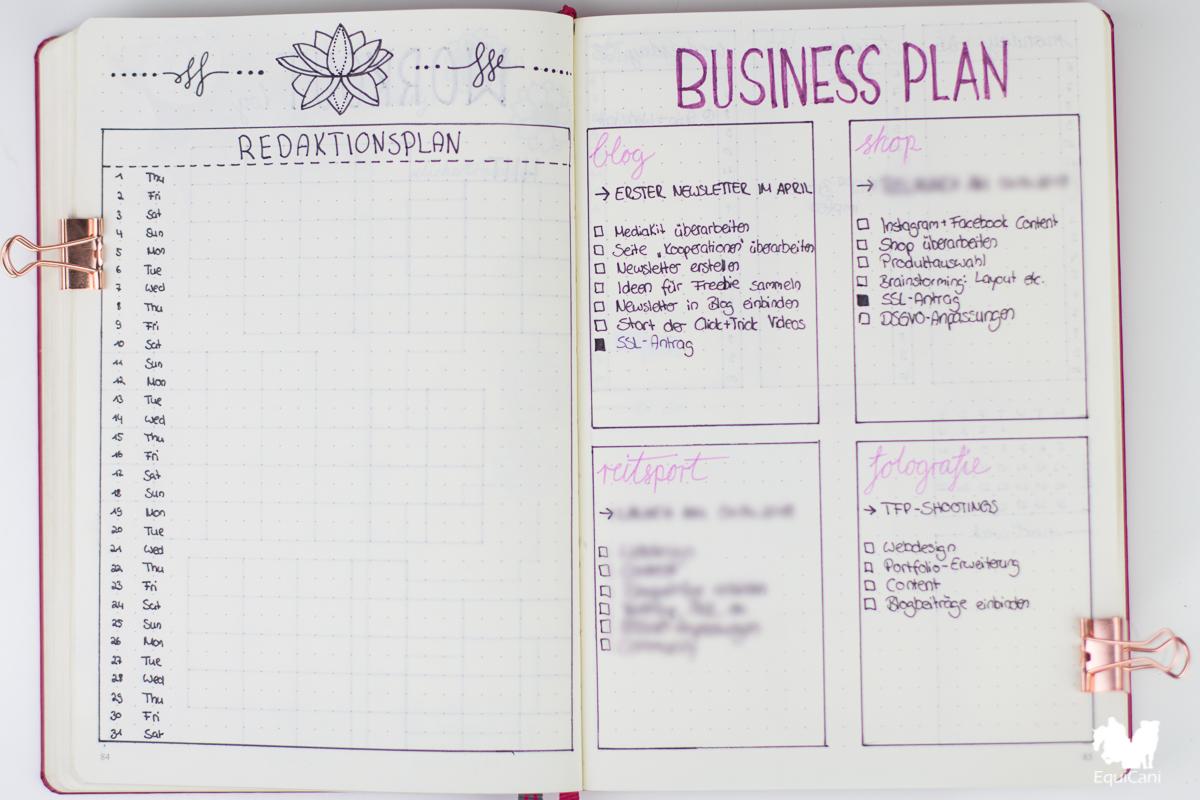 Bullet Journal Plan with me March let spring begin Redaktionsplan Businss Plan