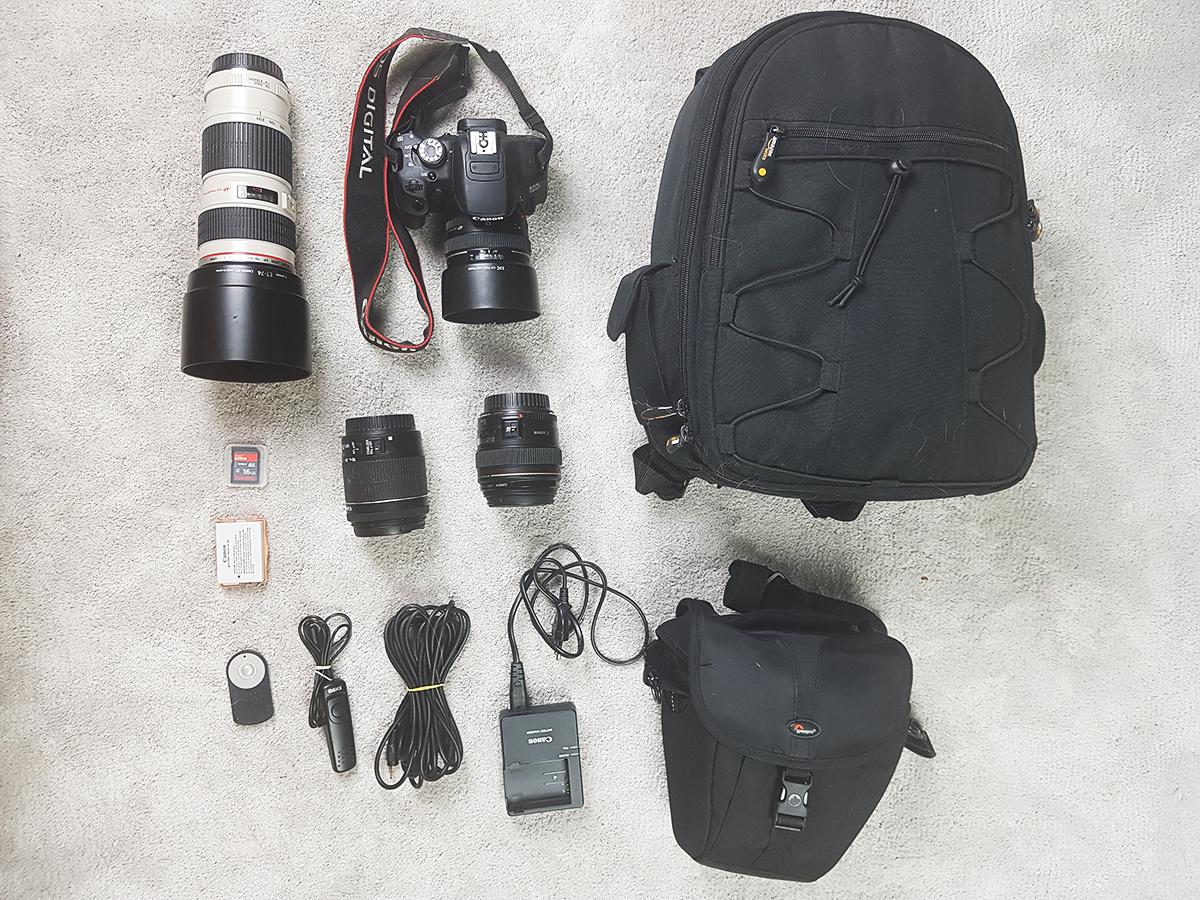 Mein ganzes Fotoequipment